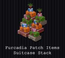 Furcadia Items - Vintage Suitcase Stack [FREE] by PointyHat