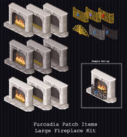 Furcadia Items - Large Fireplace by PointyHat