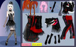 Gothic girl dress up game