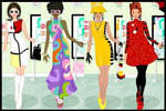 60's fashion dress up game