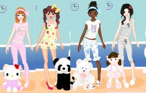 cute pajamas dress up game by Pichichama