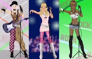 Rocker girl dress up game by Pichichama