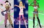 Rocker girl dress up game