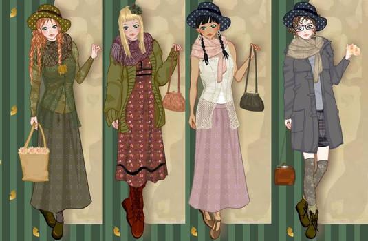 Mori girl fashion dress up