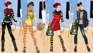 Art student dress up game