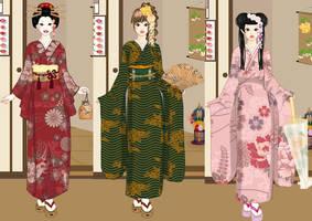 Kimono fashion dress up game by Pichichama