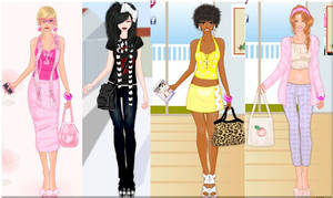 Fashion addict dress up