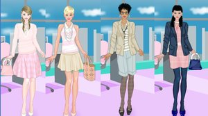 Preppy style dress up game by Pichichama