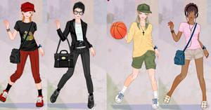 Tomboy girl dress up game