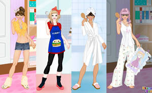 At home dress up game by Pichichama