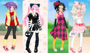 Cute Anime girl dress up