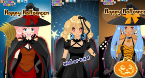 Anime witch make over game