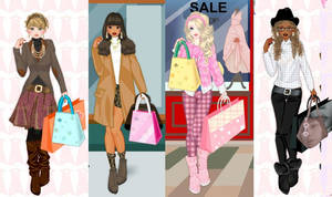 shopping day dress up game by Pichichama