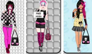 Kawaii emo girl dress up game