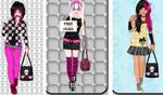 Kawaii emo girl dress up game