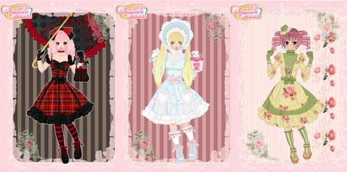 Lolita fashion creator dress up game by Pichichama