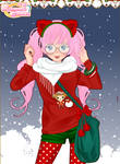 Anime x-mas girl dress up game