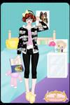 Cute pajamas dress up game