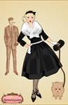 50's fashion dress up game