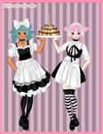 Anime maid BFF dress up game