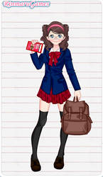 Anime school girl dress up game by Pichichama