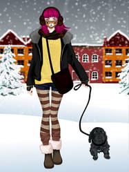 winter fashion dress up game