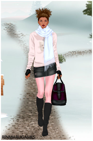 Winter Casuals dress up game by Pichichama