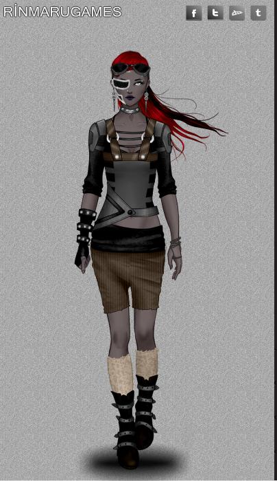 Cyberpunk fashion dress up game by Pichichama