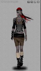 Cyberpunk fashion dress up game