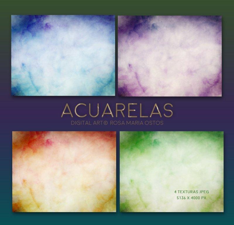 Texturas Acuarelas by ROSASINMAS