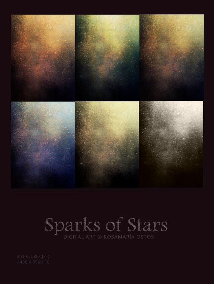 Pack Textures - Sparks of Stars by ROSASINMAS