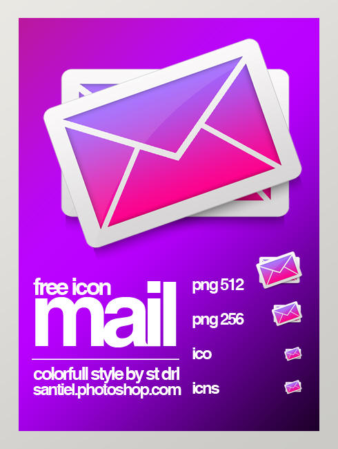 Colorfull mail icon by santieldarlaine