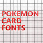 Pokemon Card Fonts