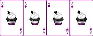Ace Deck 46: Cupcake+White+Purple