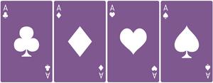 Ace Deck 6: Violet+White