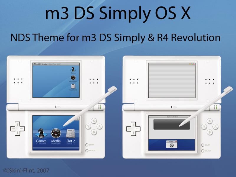m3 DS Simply OS X - NDS Theme by Skin-Flint
