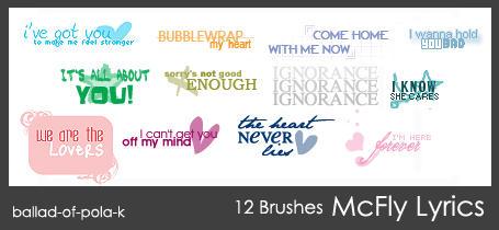 McFly Brushes