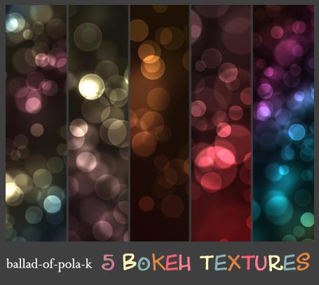 5 Bokeh Textures by ballad-of-pola-k