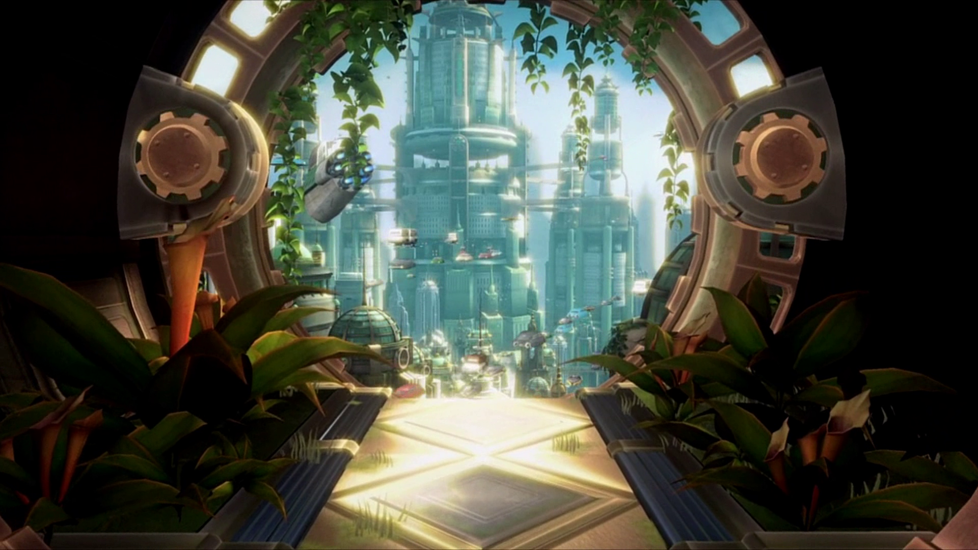 Ratchet And Clank Metropolis Animated Wallpaper By S0me 1 On