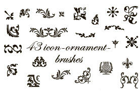 34 small ornamentbrushes PS7