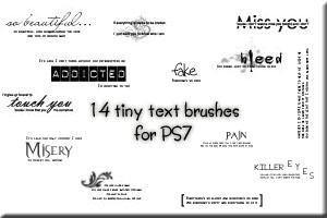 tiny text brushes for PS7 by customer-mimi