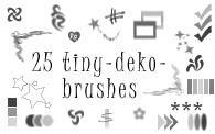 25 iny deko-brushes by customer-mimi