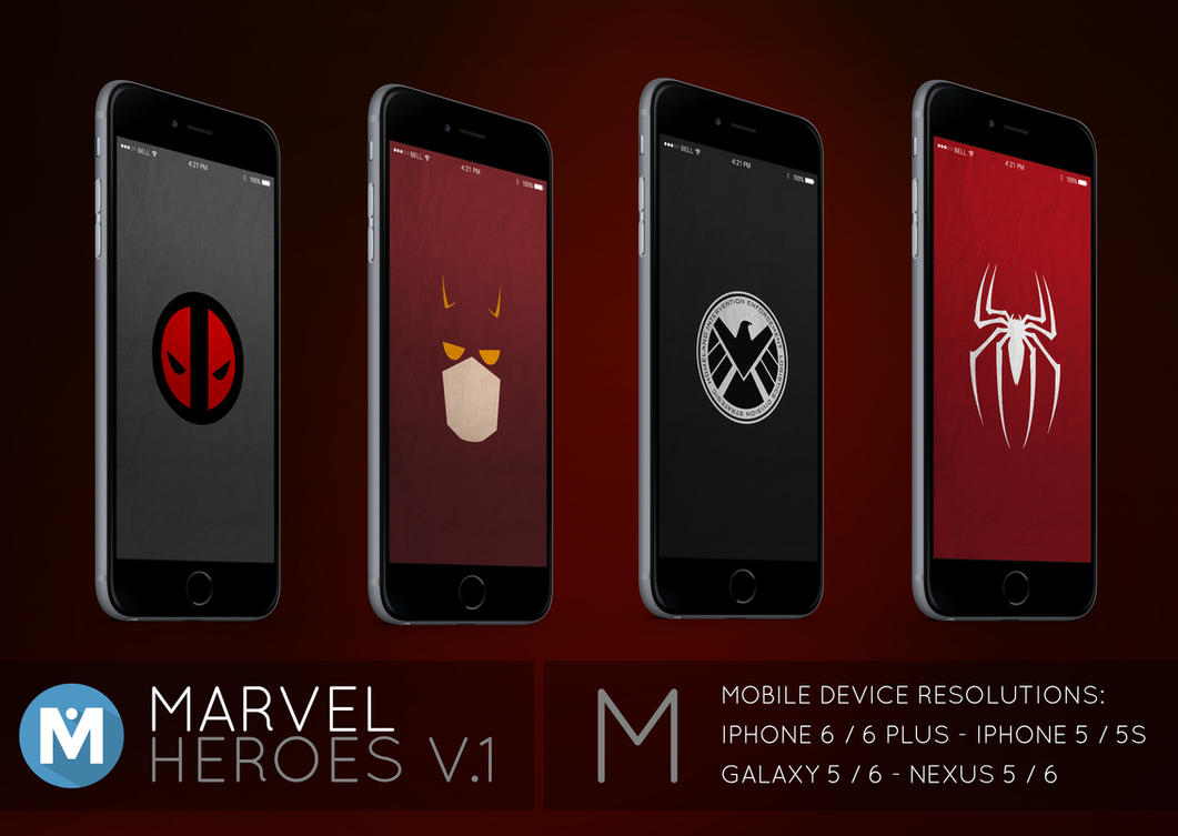 mobile : marvel heroes 1 wallpaper packpolygn on deviantart