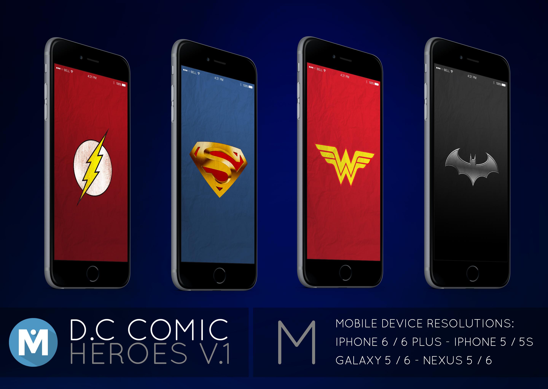 MOBILE : D.C Comic Heroes 1 Wallpaper Pack