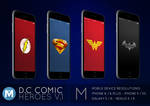 MOBILE : D.C Comic Heroes 1 Wallpaper Pack