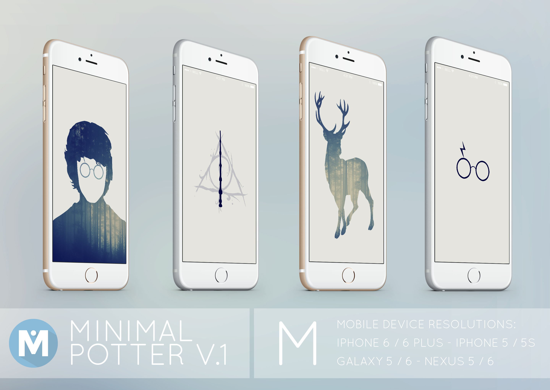 Mobile Minimal Potter 1 Wallpaper Set By Polygn On Deviantart