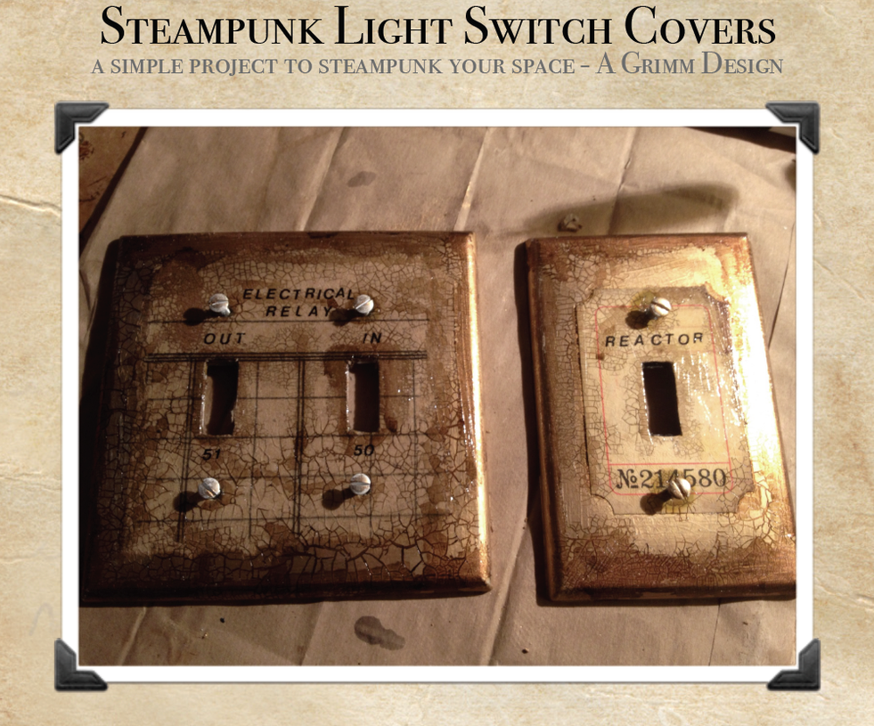 Steampunk Switch Plate Cover Diy By Agrimmdesign On Deviantart
