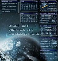 Future Blue Rainlendar by xymantix