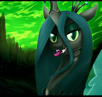 Queen Chrysalis by GamblingFoxinaHat