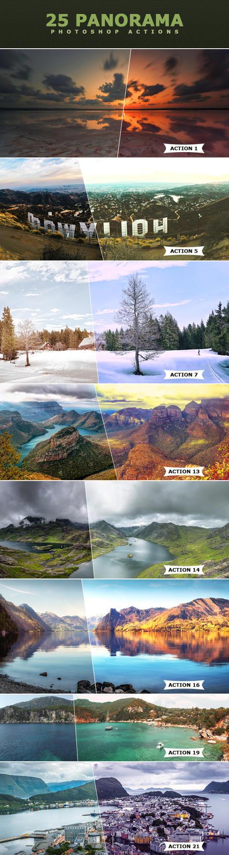 Panorama Photoshop Actions by ViktorGjokaj